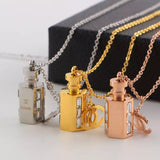 New arrival Hexagonal perfume bottle necklace