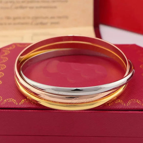 New arrival Three-ring three-colour bracelet bangles