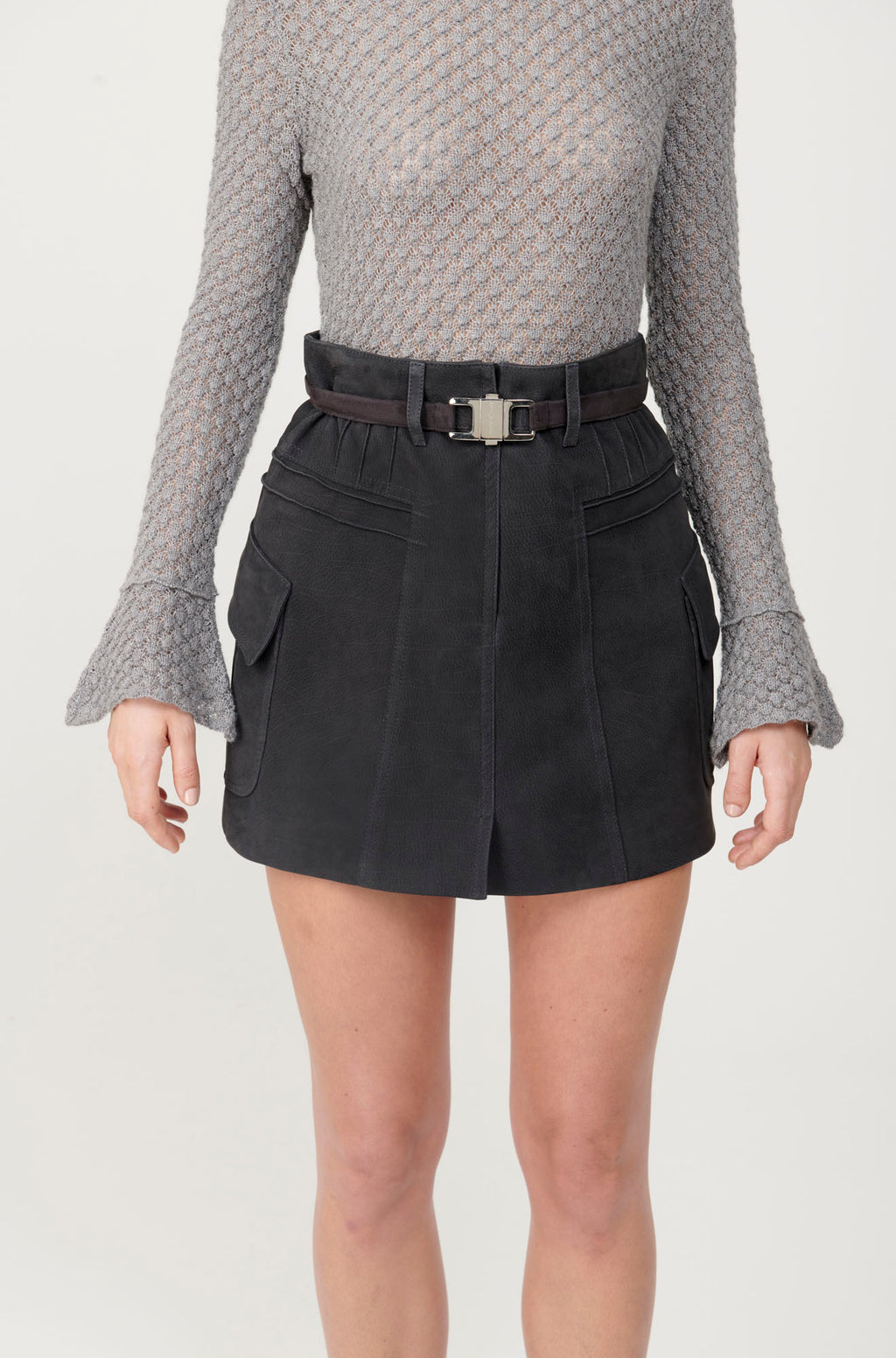 A-line Pocket Skirt with belt - My Graphiti