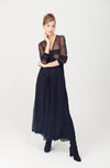 Sheer A-line Long Skirt
