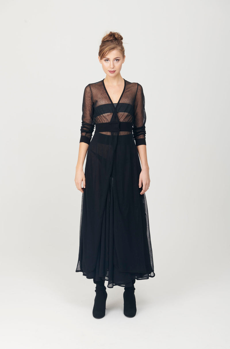 Sheer A-line Long Skirt - My Graphiti