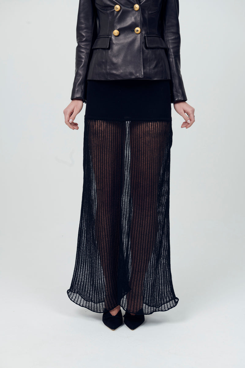 Sheer Knit Long Skirt