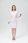 Sheath Crew Neck Dress Sleeve Slits