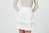 Lace & Silk Ruffles Skirt