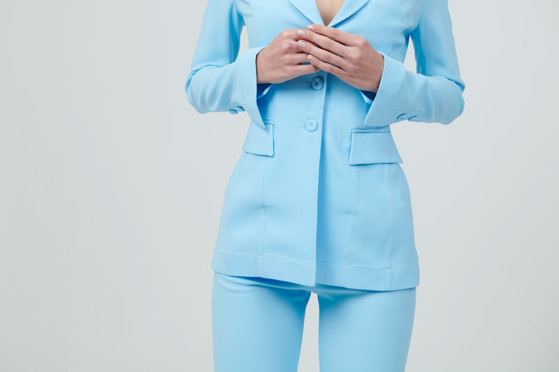 Single Breast Suit with light flare pants