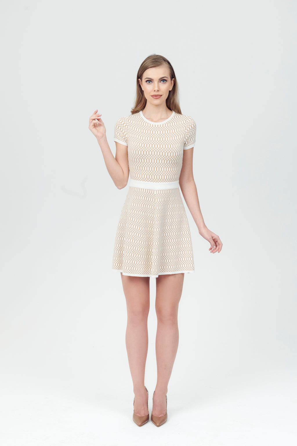 Crew Neck Short Sleeve Knit Dress