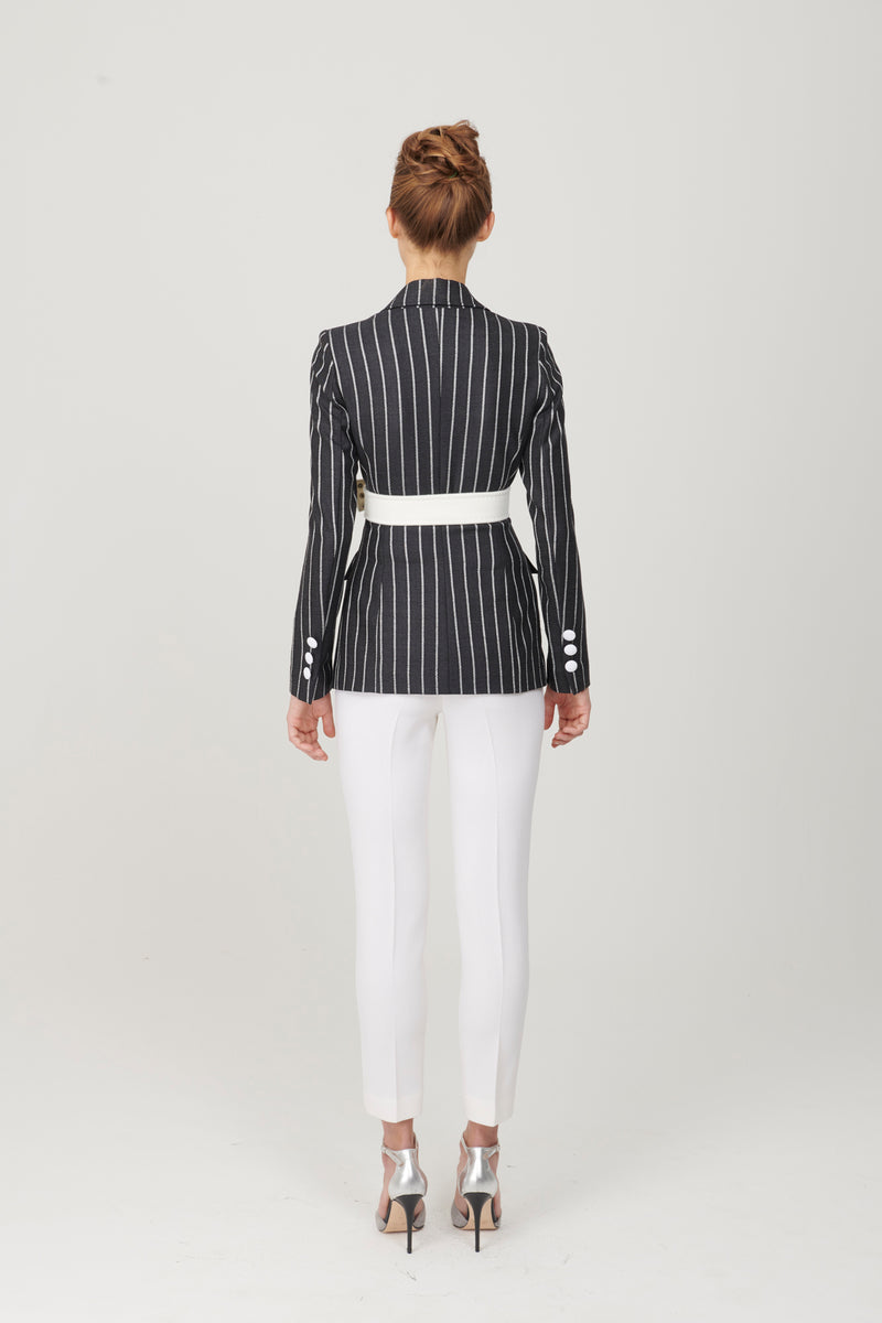 Pinstripe 3 Button Jacket - My Graphiti