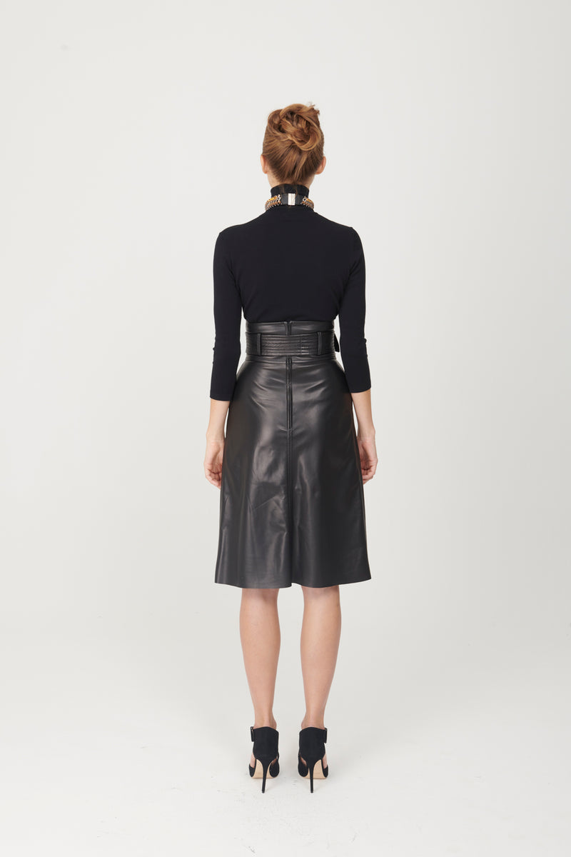 High waist Skirt with Belt - My Graphiti