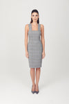 Prince of Wales Square Neck Sheath Dress - My Graphiti
