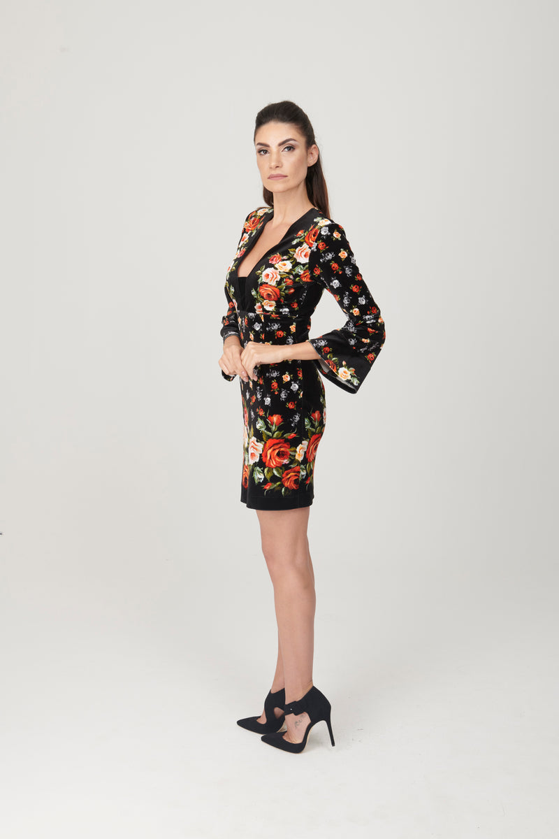 Rose Pattern Dress - My Graphiti