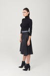 Godet Skirt Contrast Belt - My Graphiti