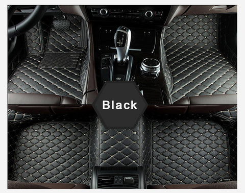 Black Luxury Car Mat