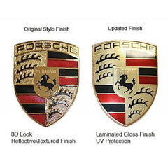 Porsche Hood Badge Crest Kit - Laminated Gloss - 97-10 - 986/987 , Exterior - vertexauto, Mid Engine Porsche