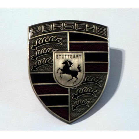 Porsche Hood Badge Crest Kit - Pewter Finish - 97-10 - 986/987 , Exterior - vertexauto, Mid Engine Porsche