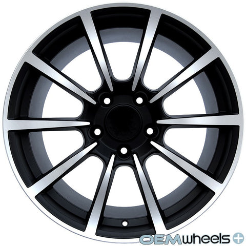 "19"" OEM Replica Turbo Style Wheels - Matte Black Machined PS101 - Fits: Boxster & Cayman 986/987/981 , Wheels - OEM Wheels Plus, Mid Engine Porsche  - 1"