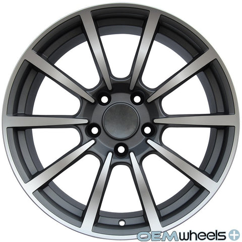 "19"" OEM Replica PS101 Style Wheels - Gun Metal Machined Face - Fits: Boxster & Cayman 986/987/981 , Wheels - OEM Wheels Plus, Mid Engine Porsche  - 1"