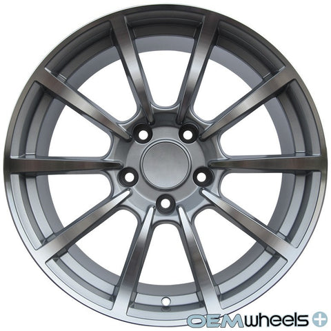 "19"" OEM Replica PS101 Style Wheels - Silver Machined Face - Fits: Boxster & Cayman 986/987/981 , Wheels - OEM Wheels Plus, Mid Engine Porsche  - 1"