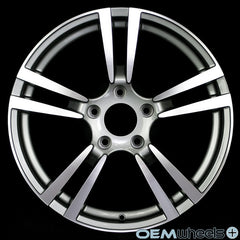 "19"" OEM Replica Turbo II Style Wheels - Gunmetal Machined Face PS524 - Fits: Boxster & Cayman 986/987/981 , Wheels - OEM Wheels Plus, Mid Engine Porsche  - 1"