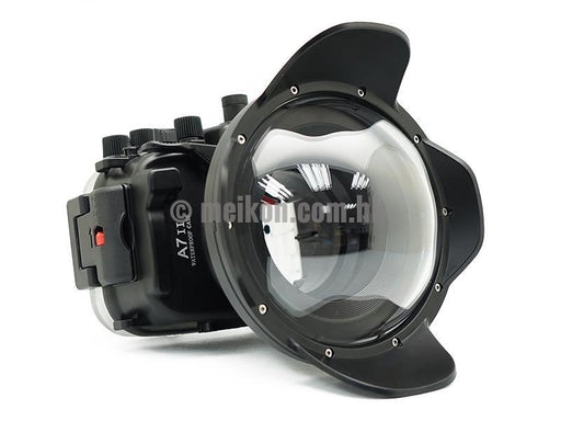 "Sony A7R II / A7S II 40M/130FT Underwater camera housing kit with SeaFrogs 6"" Dry dome port V.5"