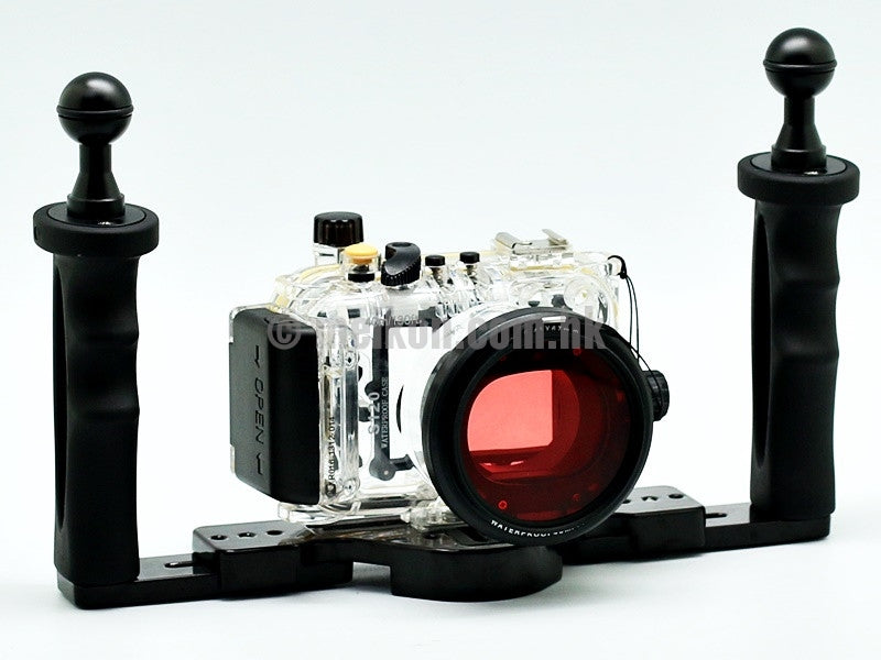 Canon PowerShot S120 40m/130ft Meikon Underwater camera housing aluminium tray kit