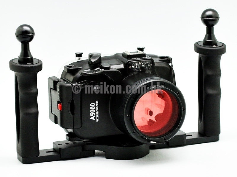 Sony A5000 (16-50) 40m/130ft Meikon Underwater camera housing aluminium tray kit