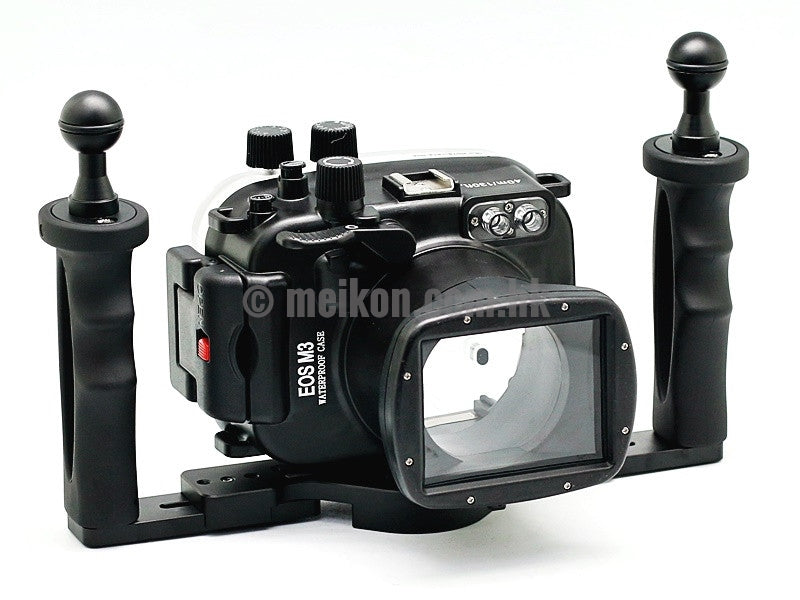 Canon EOS M3 (18-55) 40m/130ft Meikon Underwater camera housing aluminium tray kit