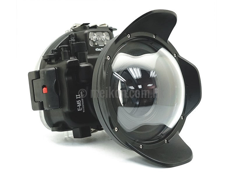 Olympus E-M5 II 40m/130ft Meikon Underwater Camera Housing with Dry dome port V.4