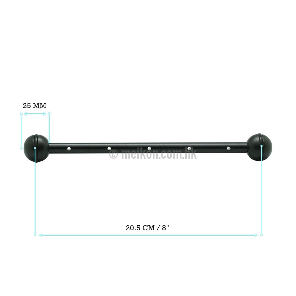 "4 x 8""/20.5cm Aluminium double one inch ball arm Ver.1"