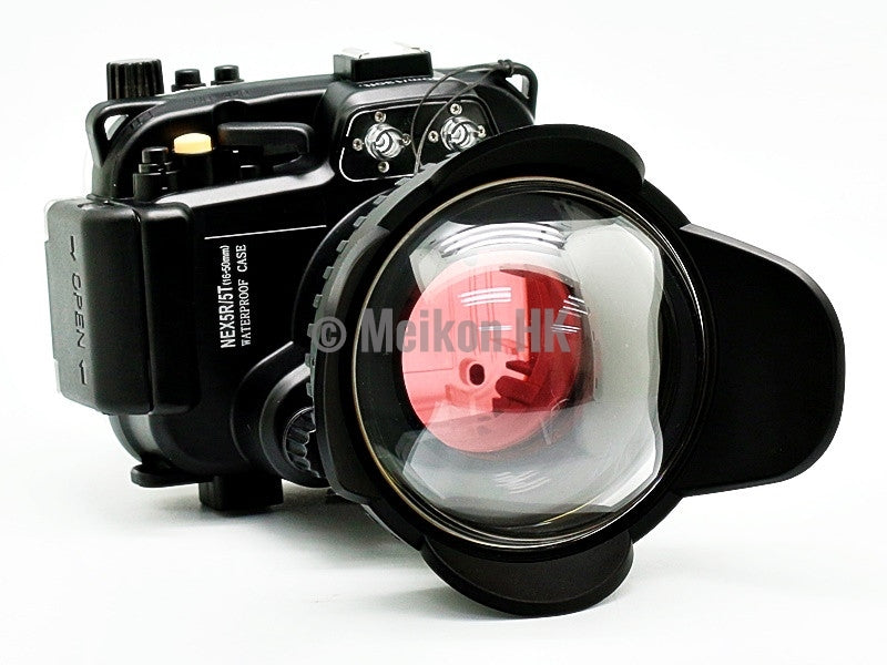 Sony NEX 5R/5T (16-50) 40m/130ft Meikon Underwater camera housing wide angle lens kit