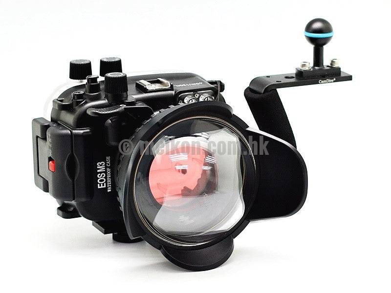 Canon EOS M3 (22) 40m/130ft Meikon underwater housing aluminium handle kit Ver. II