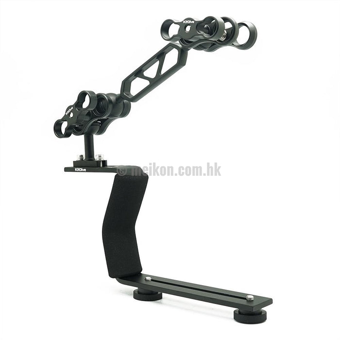 Black Aluminium Diving Handle for Underwater Camera Housings (advanced)