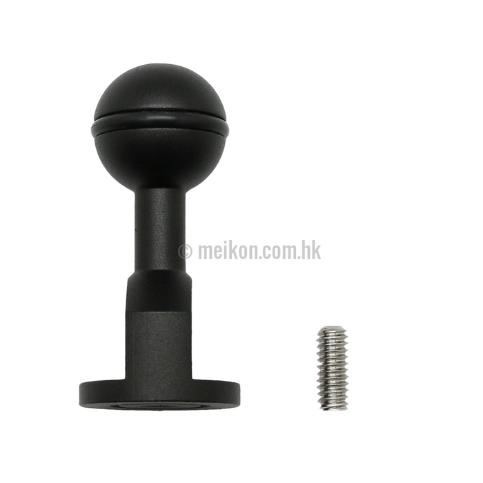 "Male 1/4""-20 to 1"" Ball adapter Size: 2.5""/6.9cm"