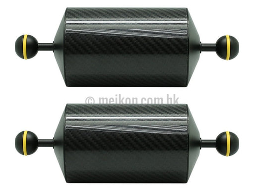 "2 x 8""/20.5cm D80mm Carbon Fiber Underwater Float Arm for Video Light/Strobe mounting"