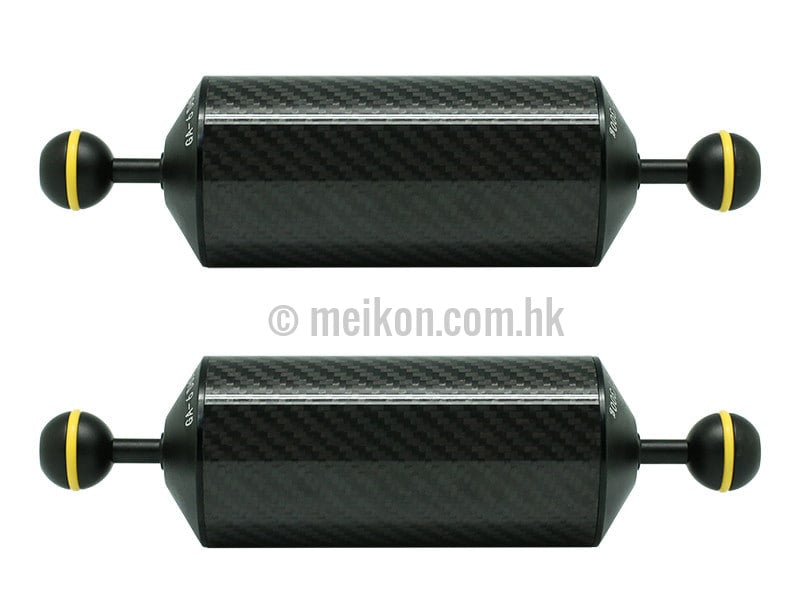 "2 x 8""/20.5cm D60mm Carbon Fiber Underwater Float Arm for Video Light/Strobe mounting"
