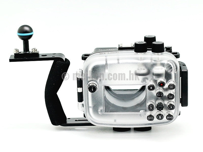Canon EOS M3 (18-55) 40m/130ft Meikon Underwater camera housing aluminium handle kit
