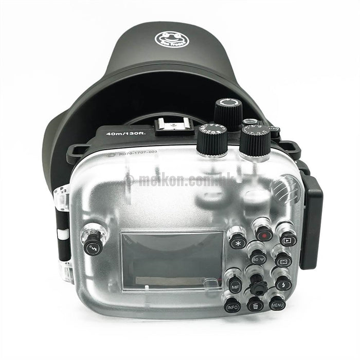 Canon EOS M3 40m/130ft Meikon Underwater Camera Housing with Dry dome port V.3
