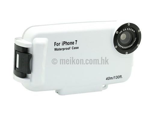 iPhone 7 & 8 40m/130ft Meikon Underwater White Case