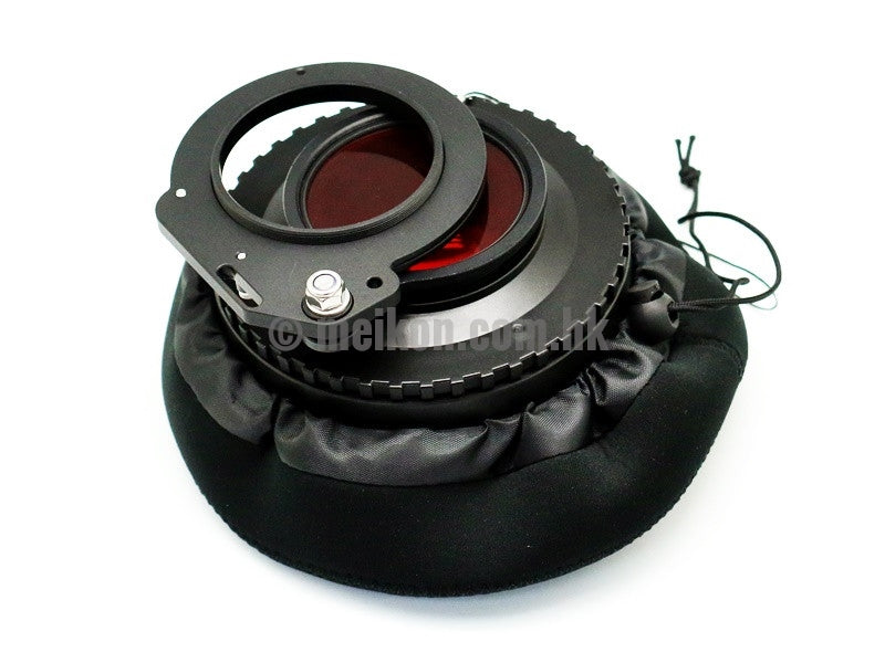 Wide Angle Wet Correctional Dome Port Lens Version II (67mm Round Adapter) with 67mm to 67mm Flip adapter & CamDive Red Diving Filter