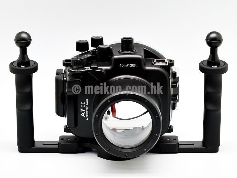 Sony A7R II / A7S II 40m/130ft Meikon Underwater camera housing aluminium tray kit