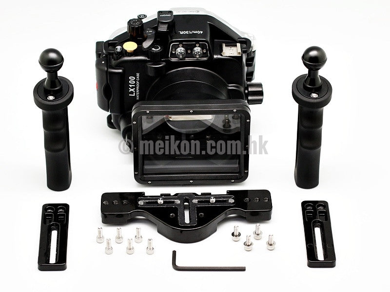 Panasonic LX100 40m/130ft Meikon Underwater camera housing aluminium tray kit