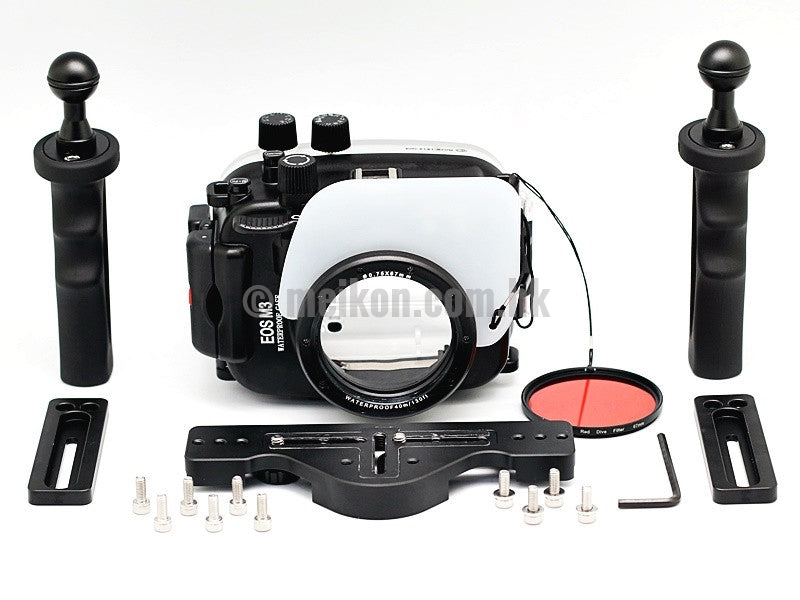 Canon EOS M3 (22) 40m/130ft Meikon Underwater camera housing aluminium tray kit