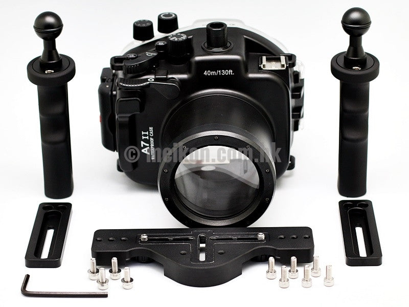 Sony A7 II 40m/130ft Meikon Underwater camera housing aluminium tray kit