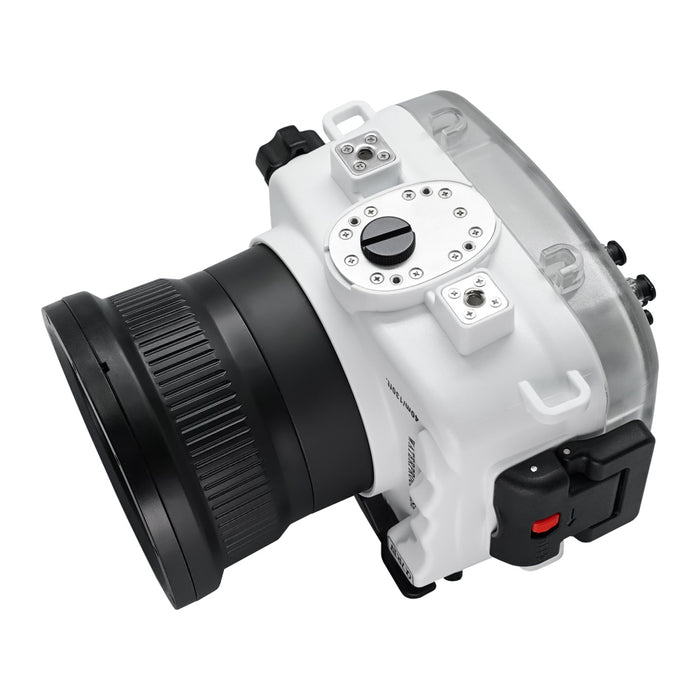 Sony A7R IV Series 40M/130FT Underwater camera housing (Standard port) Zoom ring for FE16-35 F4 included. White