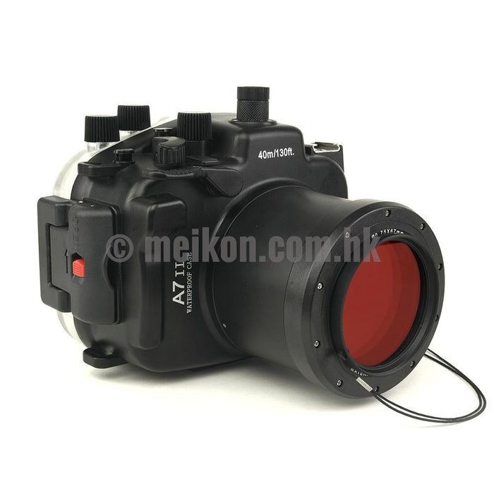 Sony A7R II / A7S II 40m/130ft Meikon Underwater Camera Housing with 67mm threaded port