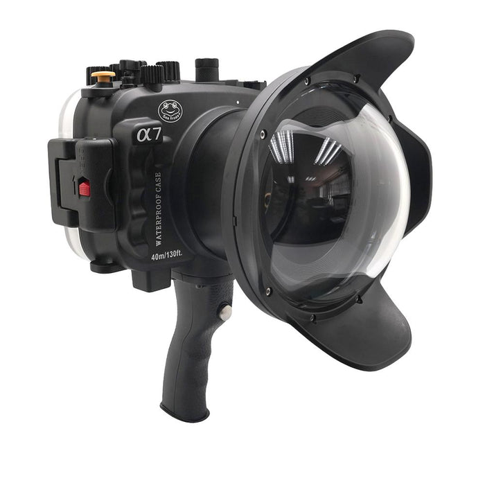 "Sony A7 NG Series 40M/130FT UW housing with 6"" Dome port & pistol grip (Standard port) Black"