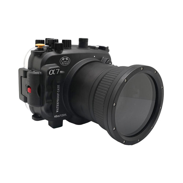 Sony A7 NG Series 40M/130FT Underwater camera housing (Long port) Black