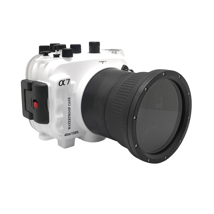 Sony A7 NG Series 40M/130FT Underwater camera housing (Macro port) White - A6XXX SALTED LINE