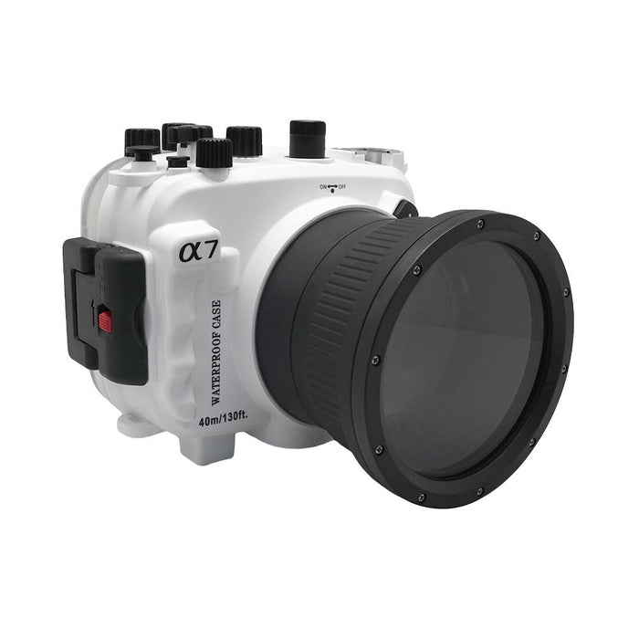Sony A7 NG Series 40M/130FT Underwater camera housing (Standard port) White - A6XXX SALTED LINE