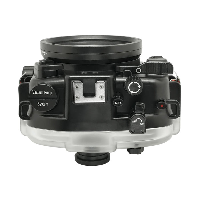 "Canon EOS M50 / EOS Kiss M (22mm) 40m/130ft SeaFrogs UW Housing with 6"" Dry Dome Port & Pistol Grip"