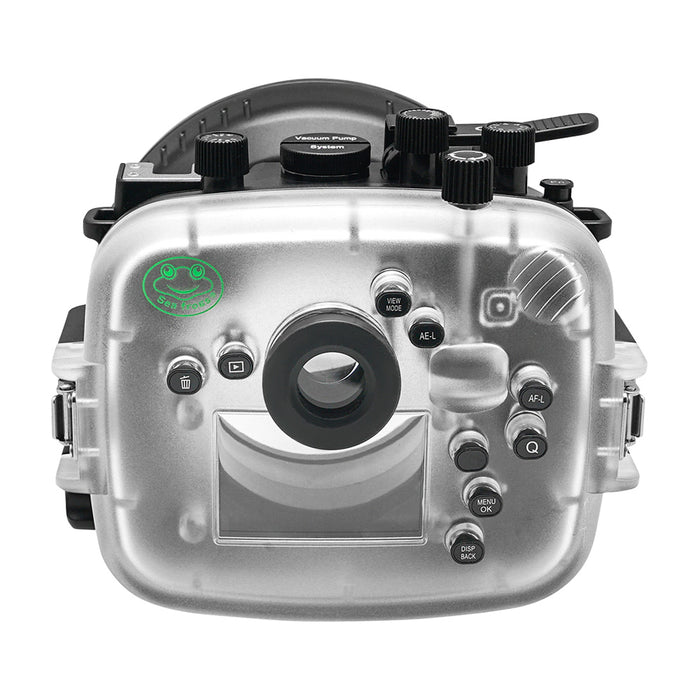 Fujifilm X-T30 40m/130ft SeaFrogs Underwater Camera Housing with Dry dome port V.1 & Pistol Grip (Standard Port)